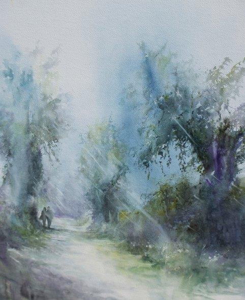 Peinture Sentier à la Bazoge
