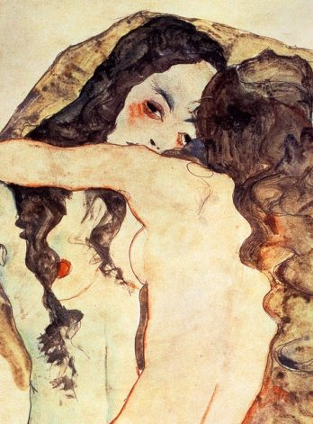 Egon Schiele, Zwei sich umarmende Frauen