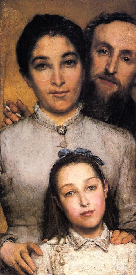Portrait de famille, Dalou, femme, fille