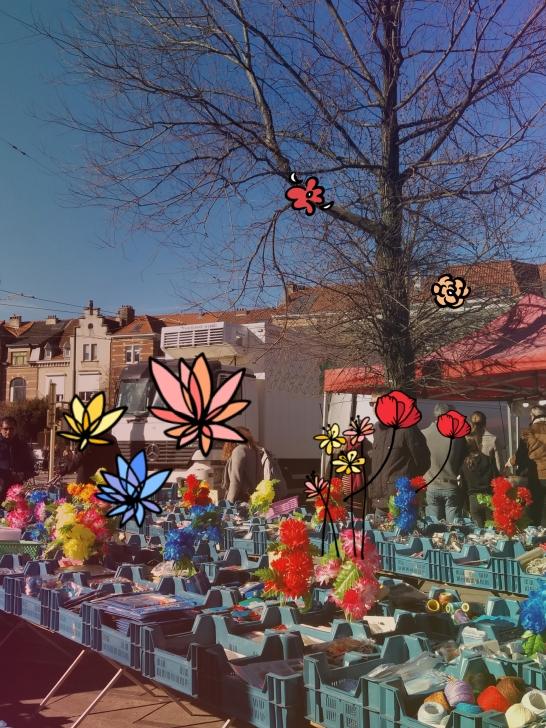 un jour au marché fleurs