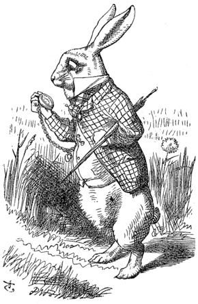 Le lapin blanc, Alice au pays des merveilles