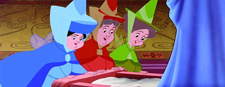 trois bonnes fées, la Belle au bois dormant, Disney